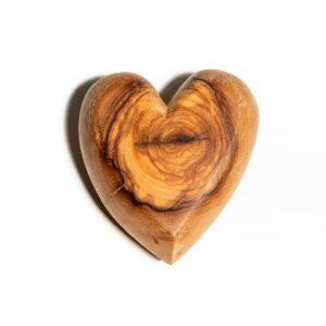 Fermacarte cuore in legno