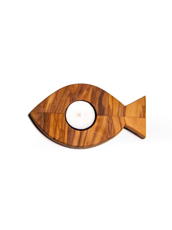 Porta tealight in legno